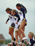 American Football Cheerleaders - high school Stock Image
