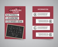 American football coach courses back and front Stock Photo