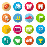 American football Colorful icons Royalty Free Stock Photo