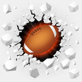 American football with cracked background Stock Images