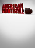 American football 3D text Stock Photos