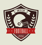 American football design Royalty Free Stock Photos