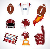 American football. Design over white  background vector illustration Royalty Free Stock Photos