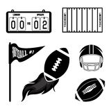 American football. Design over  white  background vector illustration Stock Image