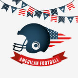 American football design Stock Photography