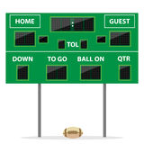 American football Digital LED Dot scoreboard Royalty Free Stock Photography