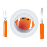 American football dish Royalty Free Stock Image