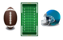 American Football Elements Illustration Stock Image