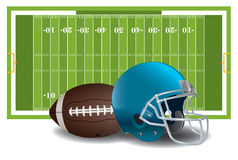 American Football Elements Illustration Royalty Free Stock Images