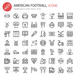 American Football Elements Stock Photo