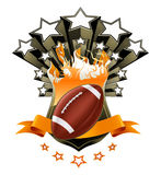 American Football Emblem. Computer illustration, isolated Royalty Free Stock Photo