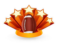 American Football Emblem. Computer illustration, isolated Stock Image