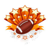 American Football Emblem. Computer illustration, isolated Stock Images