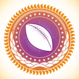 American football emblem. Royalty Free Stock Photos
