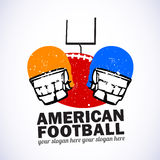 American Football Emblem Royalty Free Stock Image
