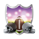 American Football Emblem Illustration Stock Images