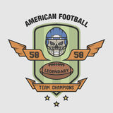 American football emblem Royalty Free Stock Photos