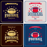 American football emblem tournament Stock Photography
