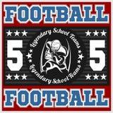 American football emblem Stock Photo