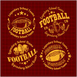 American Football Emblem, vector Royalty Free Stock Photos