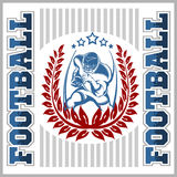 American football emblem Royalty Free Stock Images