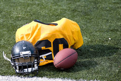 American football equipment Royalty Free Stock Image