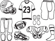 American Football Equipment Stock Photo