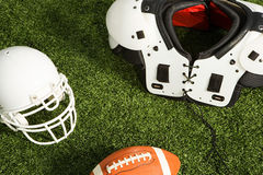 American football equipment Royalty Free Stock Images