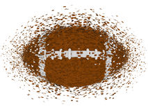 American football exploding Royalty Free Stock Photo