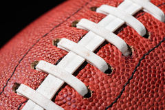 American Football Extreme Close Up Royalty Free Stock Photography