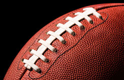American Football Extreme Close Up Royalty Free Stock Images