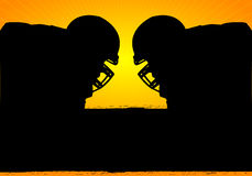 American Football Face-off Stock Photography
