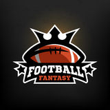 American football fantasy logo.