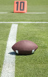 American football on field Royalty Free Stock Photo