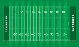 American football field Royalty Free Stock Photo