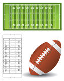 American football field Stock Photos