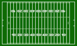 American football field. With green in background Stock Photos