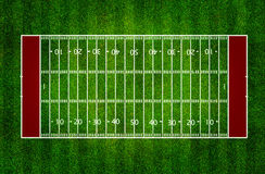 American football field. Top view on grass Royalty Free Stock Photos