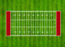 American football field. Top view on grass Royalty Free Stock Photography