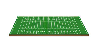 American Football Field 3D Perspective Royalty Free Stock Photography