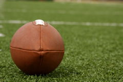 American Football on the field Royalty Free Stock Photo