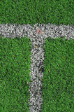 American Football Field Abstract Stock Image