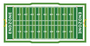 American Football Field Aerial View Illustration Royalty Free Stock Image