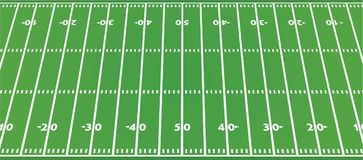 American football field. Vector illustration Royalty Free Stock Photos