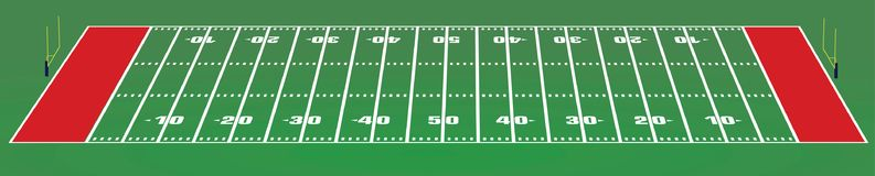 American football field. Vector illustration Royalty Free Stock Image