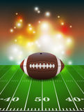 American Football on Field Background Royalty Free Stock Photography
