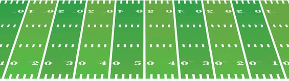American football field background. Perspective view. vector illustration Royalty Free Stock Photo