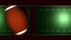 American football on field background stock footage