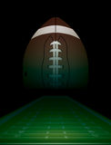 American Football Field and Ball Illustration Stock Photography