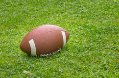 American football on the field royalty free stock images